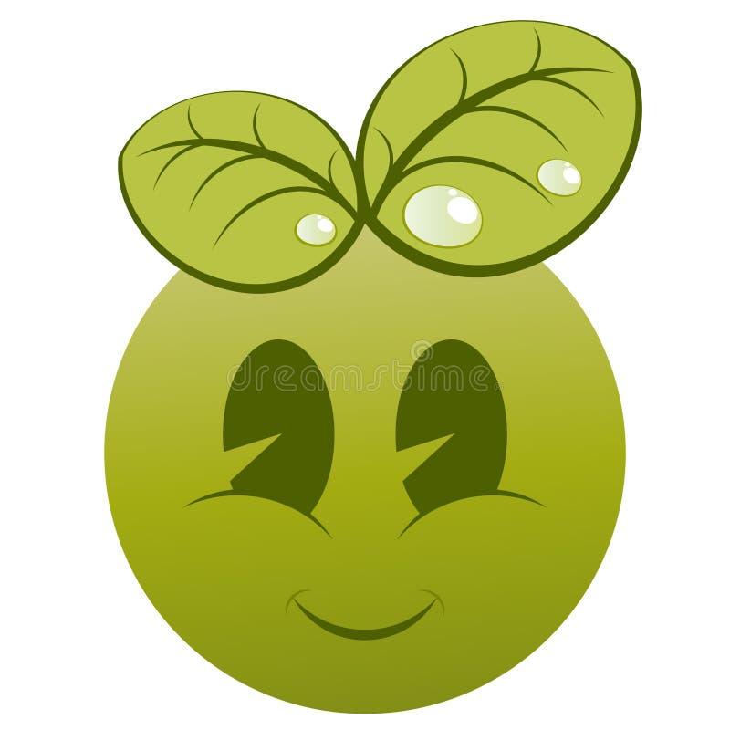 vänlig fruktsmiley för eco vektor illustrationer