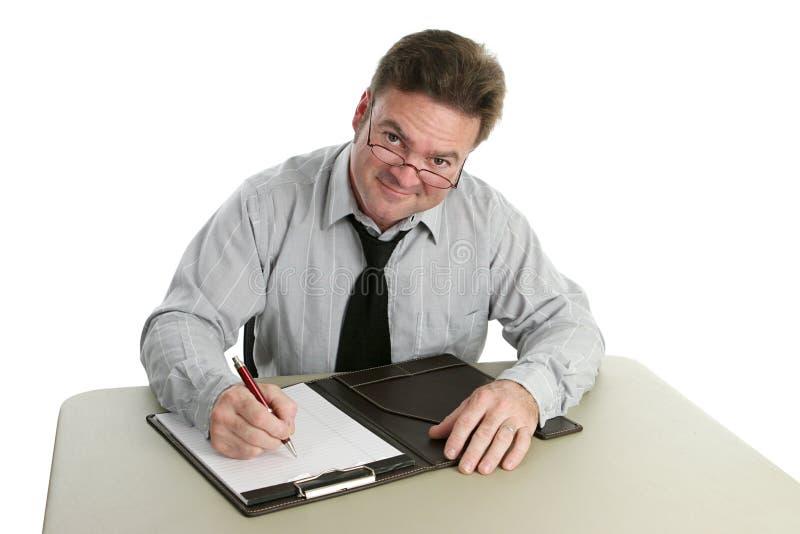 vänlig intervjuare arkivfoto