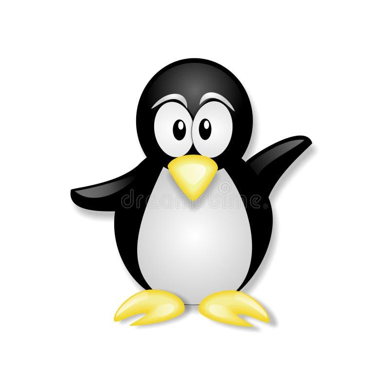 Vinka för pingvin royaltyfri illustrationer