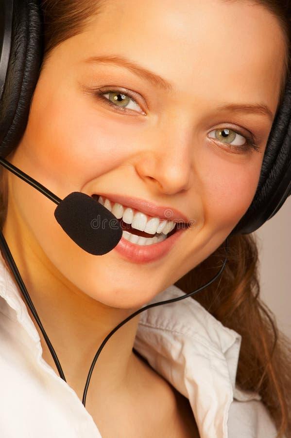 Download Vänlig serviceservice arkivfoto. Bild av mikrofon, affärsbiträde - 510552
