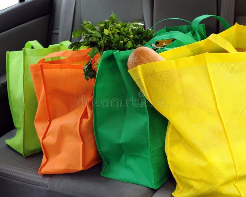 vänlig shopping för eco royaltyfri bild