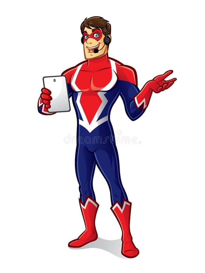Vänlig Superherogrej stock illustrationer
