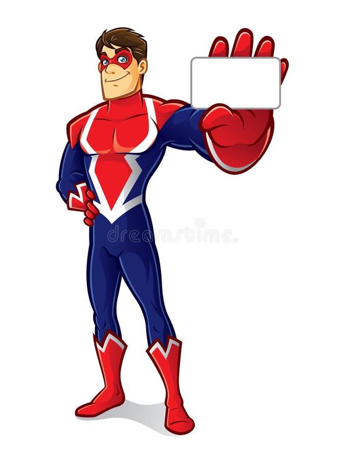 Vänlig Superheroidentitet vektor illustrationer