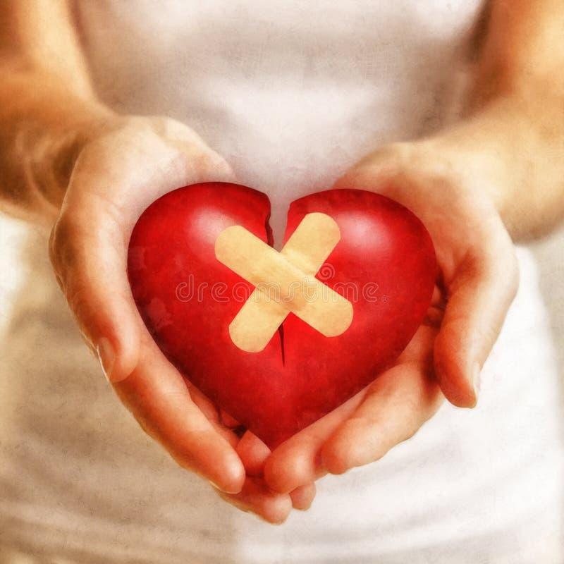 Vänlighet läker en bruten hjärta royaltyfri illustrationer