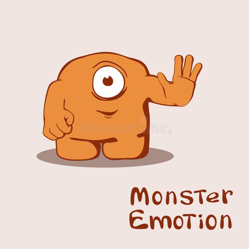 Vänligt monster stock illustrationer