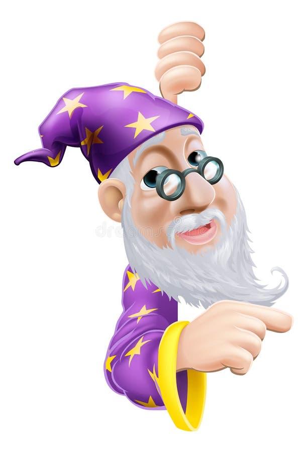 Vänligt peka för trollkarl royaltyfri illustrationer