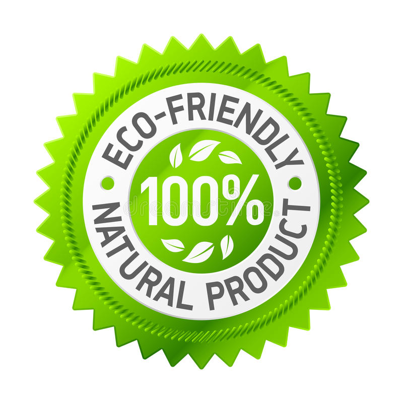 vänligt produkttecken för eco stock illustrationer