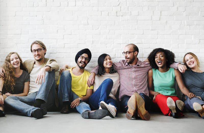 Vänservice Team Unity Friendship Concept royaltyfri fotografi