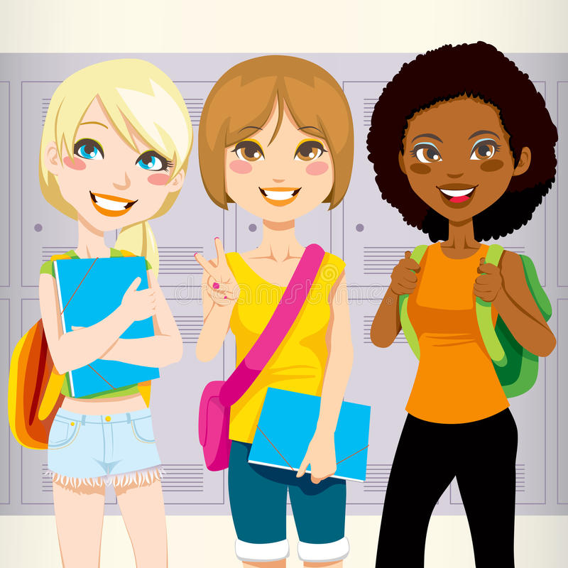 vänskola stock illustrationer
