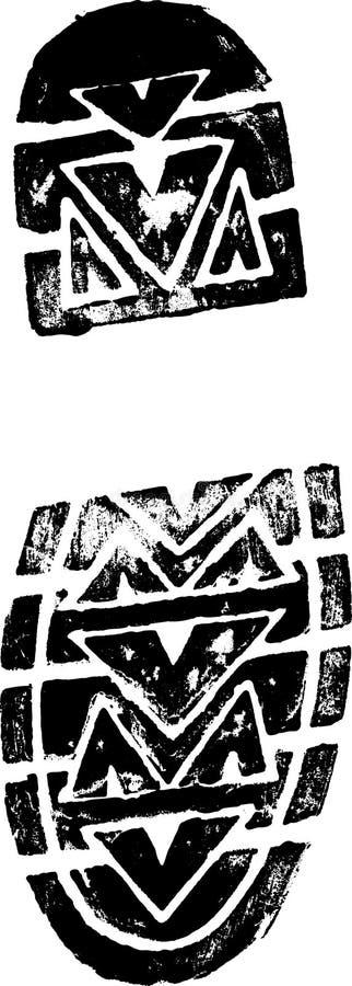 vänster shoeprint royaltyfri illustrationer