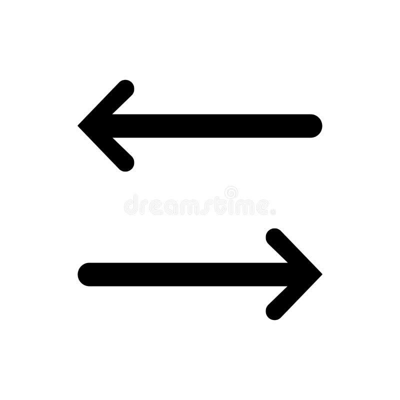Vänster symbol för höger pil stock illustrationer