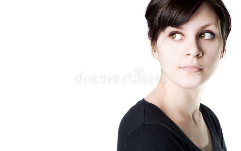 vänstersida som ser kvinnabarn fotografering för bildbyråer