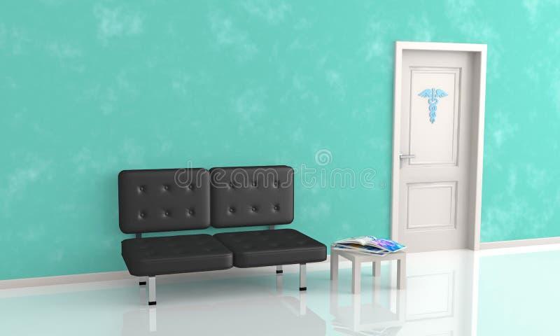 Väntande rum av doktors kontor vektor illustrationer