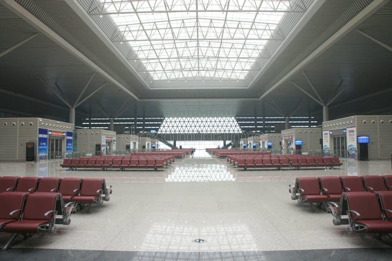 Väntande rum av järnvägsstationen arkivfoto