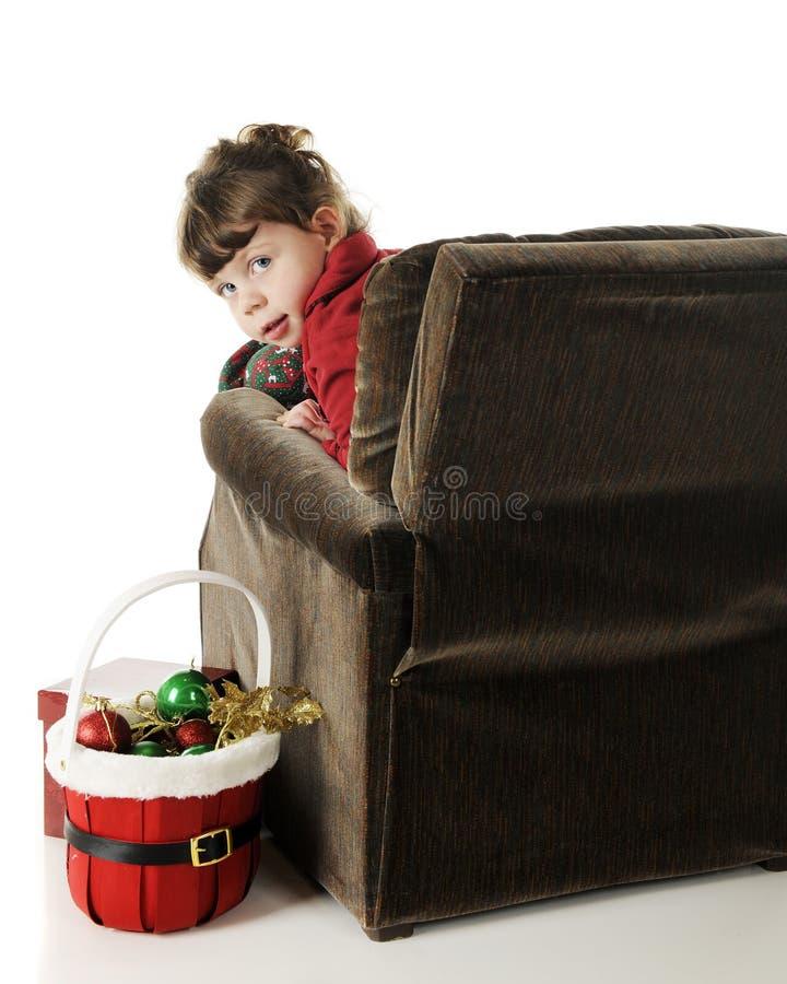 Download Väntande Santa fotografering för bildbyråer. Bild av vänta - 27285921