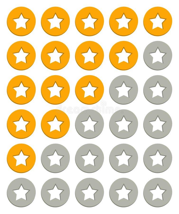 Download Värderingsstjärnor stock illustrationer. Illustration av granskning - 37349607
