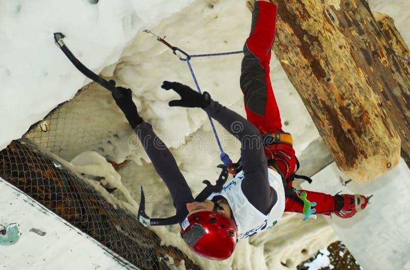 värld 2007 för is för bustenimästerskapklättring royaltyfri fotografi