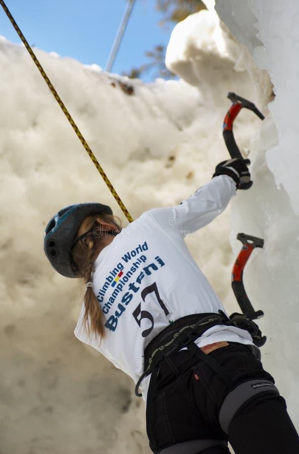 värld 2007 för is för bustenimästerskapklättring royaltyfria bilder