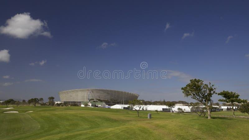 värld 2010 för town för stadion för uddkoppfotboll royaltyfri foto