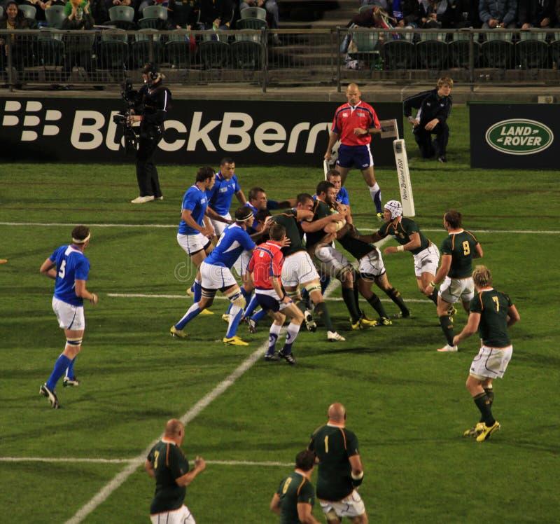 värld 2011 för africa koppnamibia rugby söder kontra royaltyfria foton