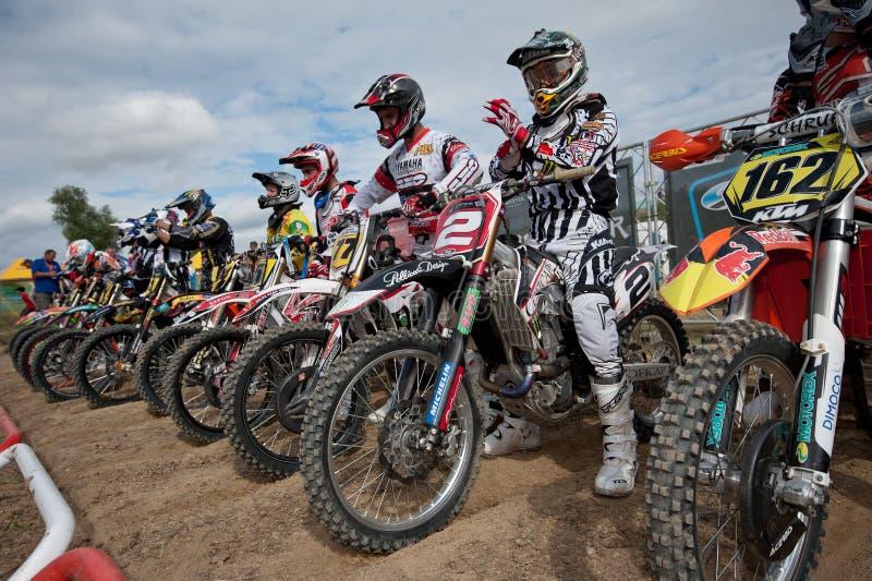 värld 2011 för senkvice för mästerskapfim-motocross mx3 arkivfoto