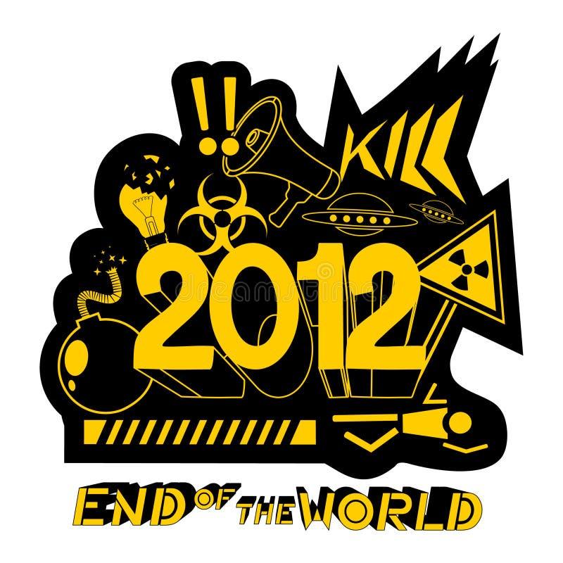 värld 2012 vektor illustrationer