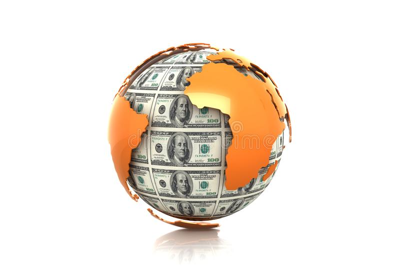 Värld av finans royaltyfri bild