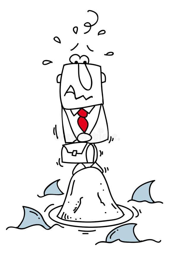 Värld av hajar. stock illustrationer