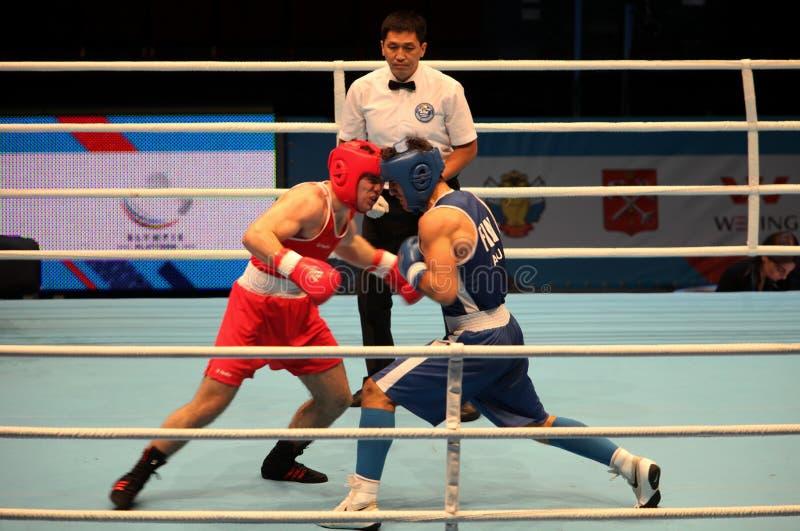 Värld Championship's för boxningmatch royaltyfri fotografi