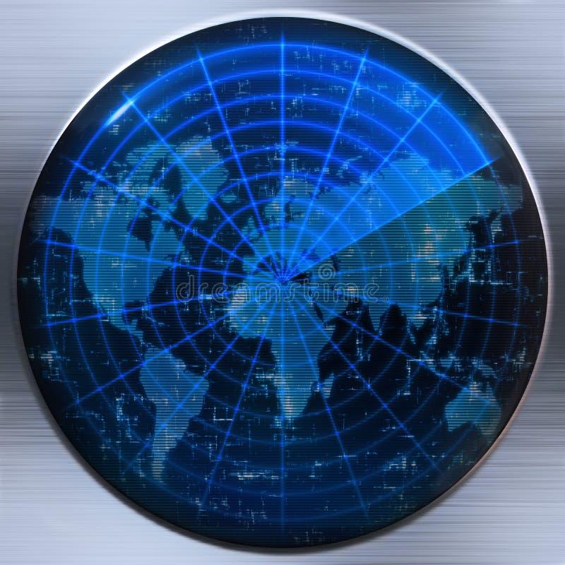 värld för översiktsradarsonar vektor illustrationer