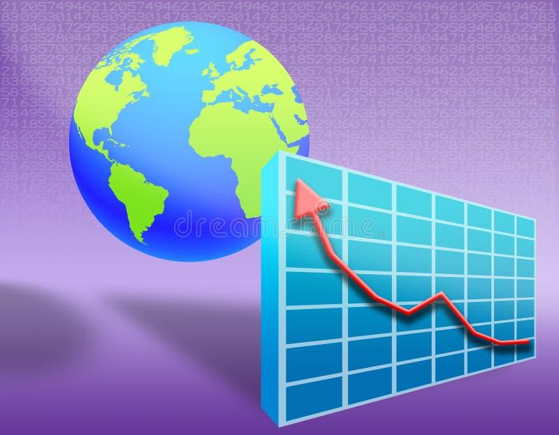 värld för 02 ekonomi royaltyfri illustrationer