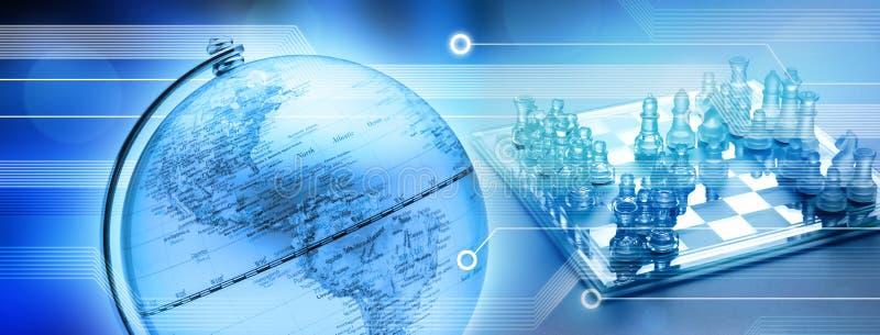 värld för affärsschackstrategi