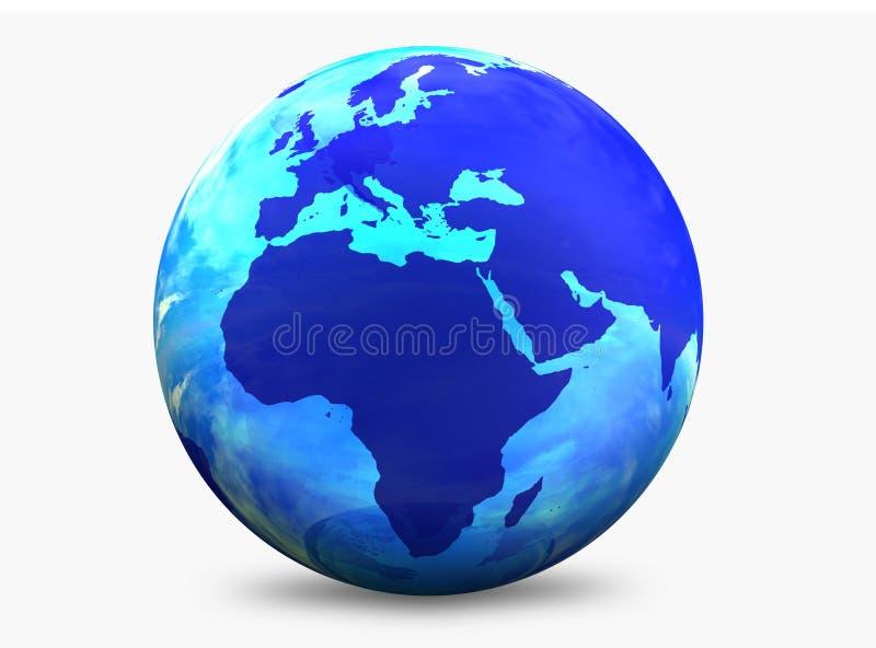 värld för aquafärgjordklot royaltyfri illustrationer