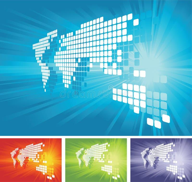värld för bakgrundsöversiktsvektor vektor illustrationer