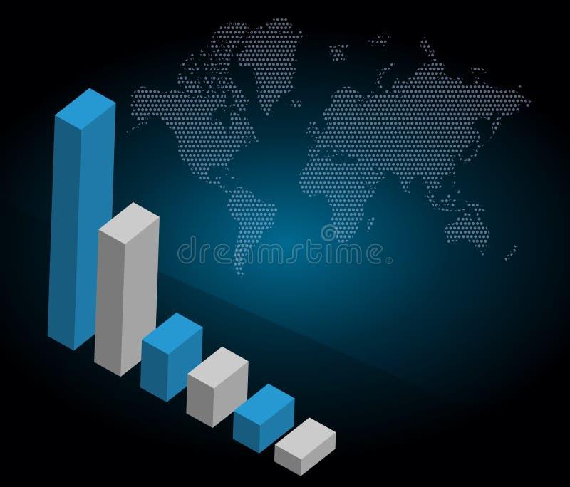 värld för bakgrundsaffärsgraf vektor illustrationer