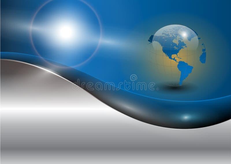 värld för bakgrundsaffärsjordklot stock illustrationer