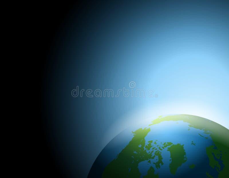 värld för bakgrundsjordöverkant royaltyfri illustrationer