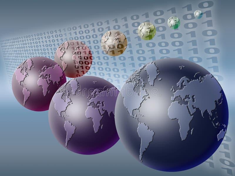 värld för binär kod 02 royaltyfri illustrationer