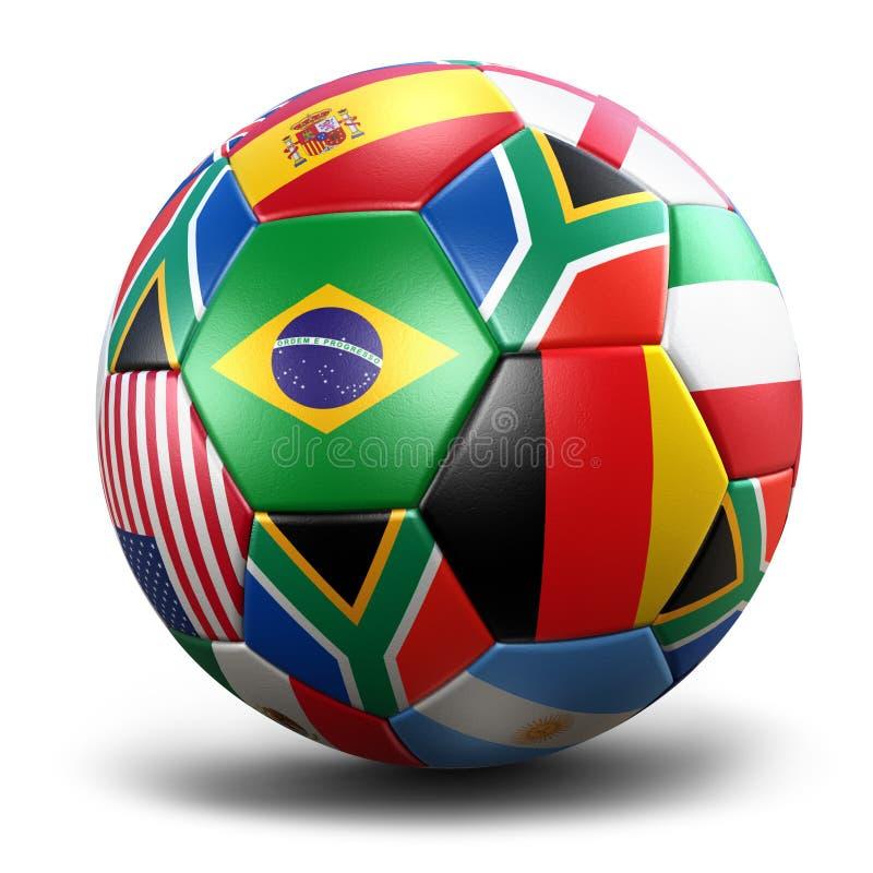 värld för bollkoppfotboll royaltyfri illustrationer