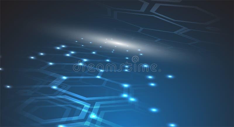 Värld för Digital teknologi Faktiskt begrepp för affär Vektorbackg stock illustrationer