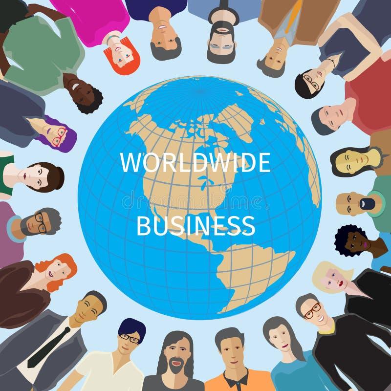 Värld för folkbegrepp royaltyfri illustrationer