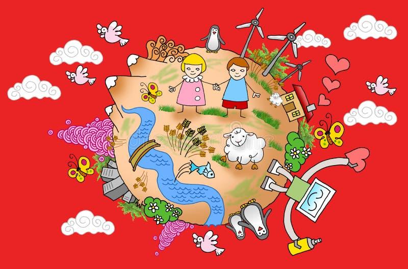 värld för fred 02 vektor illustrationer