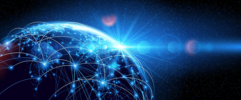 Värld för globalt nätverk royaltyfri illustrationer