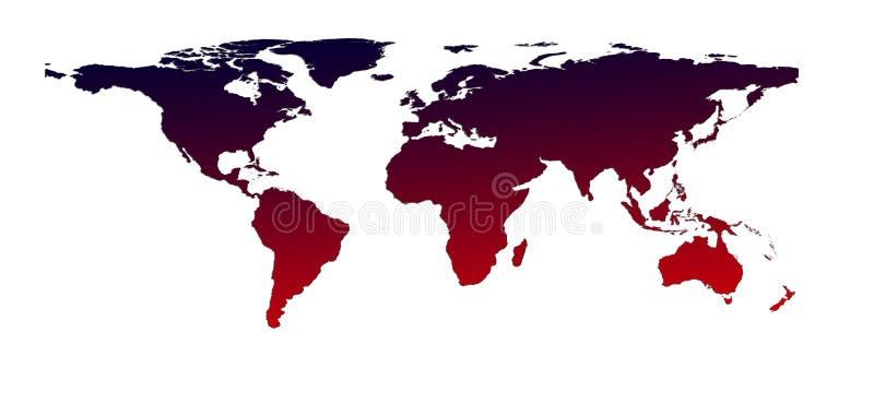 värld för illustrationöversiktsskugga royaltyfri bild