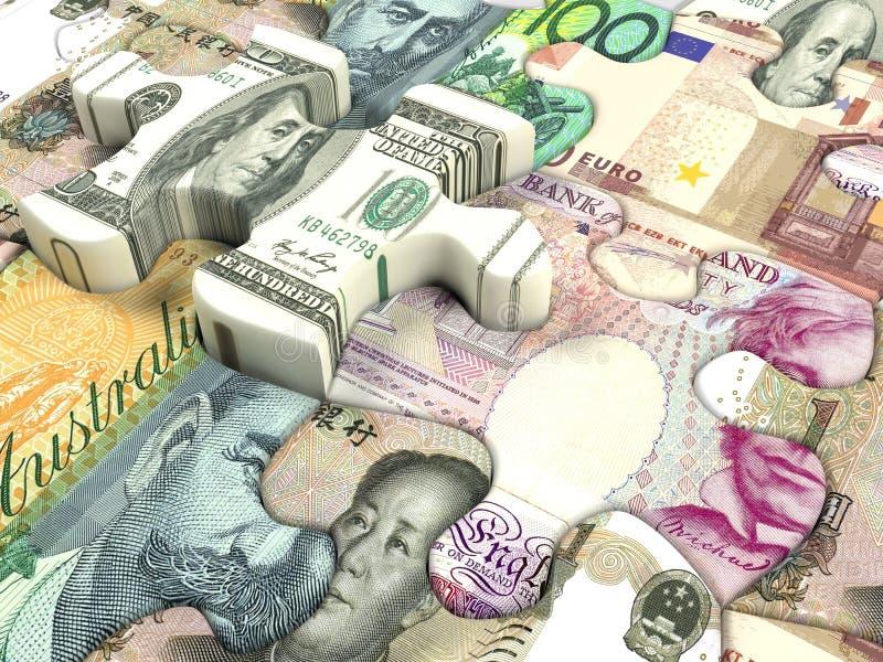 värld för illustration tre för härlig valuta 3d dimensionell mycket royaltyfri fotografi