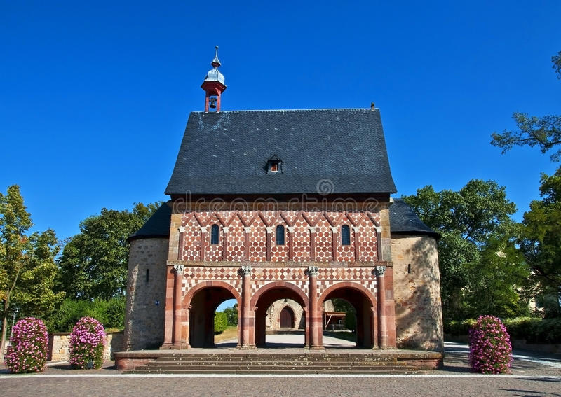 värld för kloster för kulturarvlorsch fotografering för bildbyråer