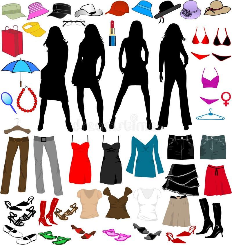 värld för lady s stock illustrationer