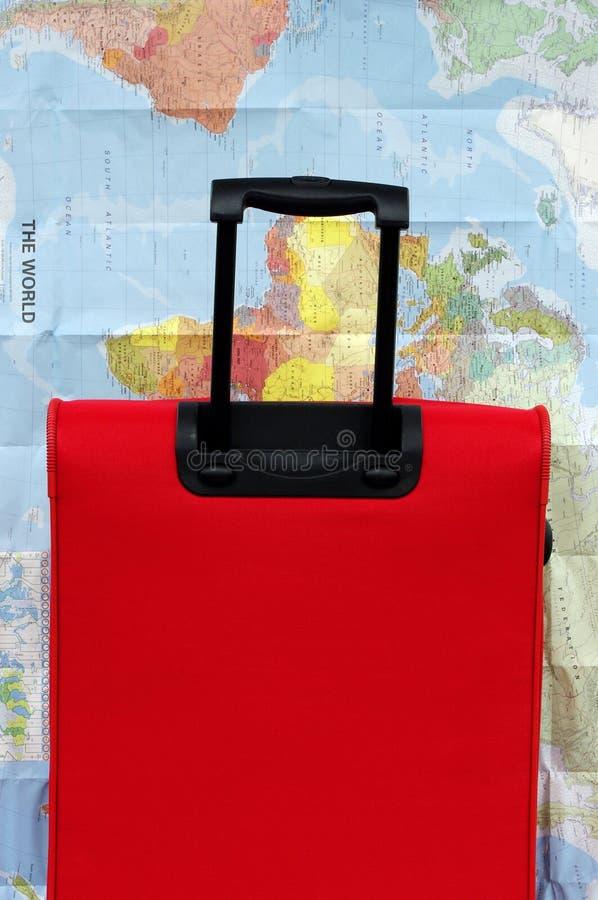 Värld För Lopp För Resväska För Begreppsbagageöversikt Arkivfoto