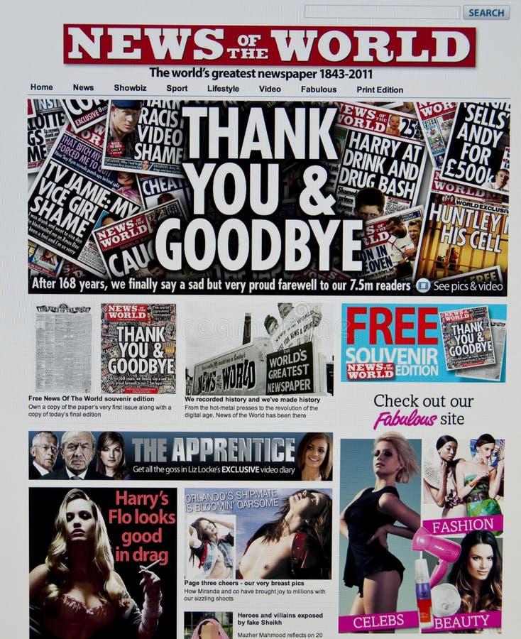 värld för nyheternalokalrengöringsduk royaltyfri bild