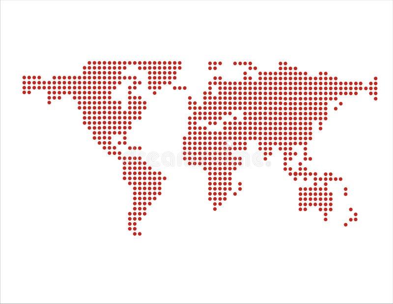 värld för pricköversiktsvektor stock illustrationer